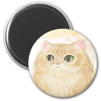 Persische Katzen-Illustrations-Magneten Runder Magnet 5,7 Cm
