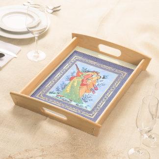 Persische Kunst-persisches neues Serviertablett
