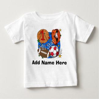 Personalisiert aller Stern-1. Geburtstags-T - Baby T-shirt