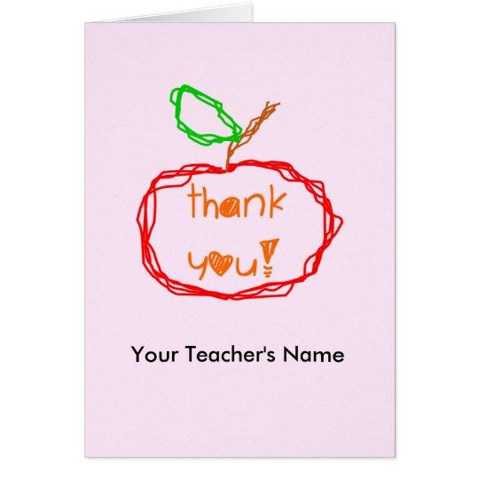 Personalisiert danke Lehrer-Karte Grußkarte