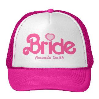 Personalisiert die Braut Truckerkappe