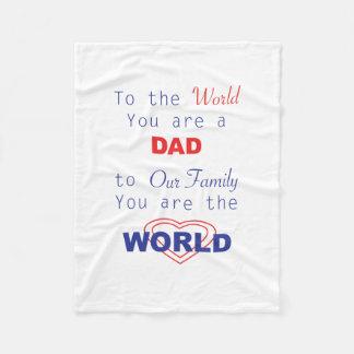 Personalisiert für Vati, der patriotische Vatertag Fleecedecke