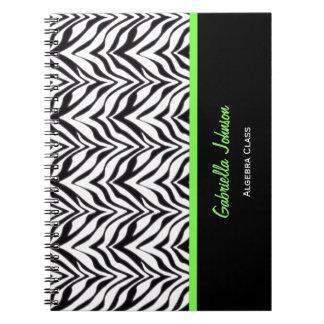 Personalisiert: Grün getrimmt: Spiral Notizblock