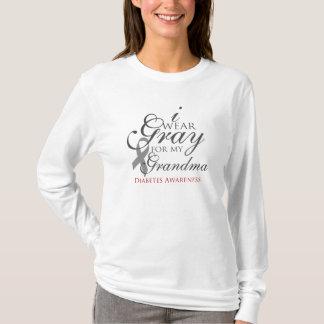 """Personalisiert """"ich trage Grau für mein __"""" T-Shirt"""