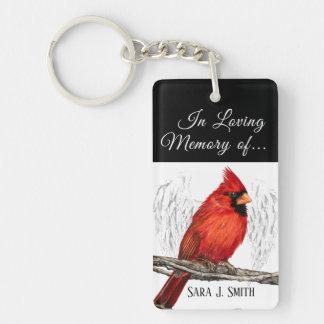 Personalisiert in liebevollem Gedächtnis-Kardinal Schlüsselanhänger