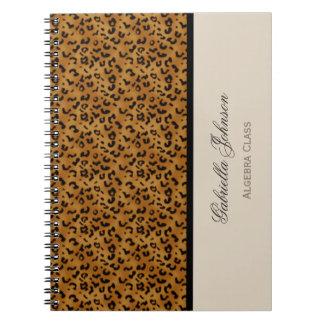 Personalisiert: Leopard-Druck-Notizbuch Notizblock