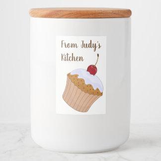 Personalisiert von der Küche der Maurergläser Lebensmitteletikett