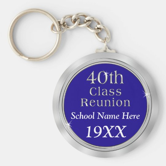 Personalisierte 40. Klassen-Wiedersehen-Geschenke, Schlüsselanhänger