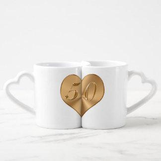 Personalisierte 50. Hochzeits-Jahrestags-Geschenke Liebestassen