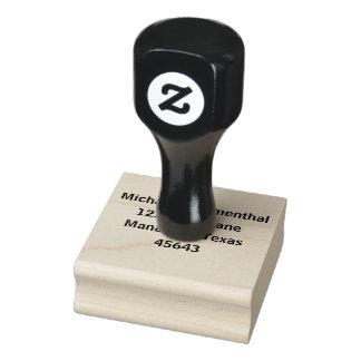 Personalisierte Adresse Gummistempel