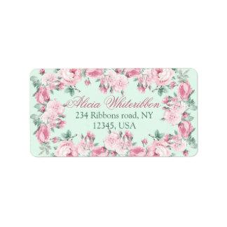 Personalisierte Adressen-Etiketten des Shabby Chic Adressaufkleber