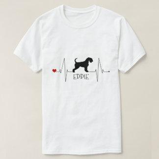 Personalisierte Airedale-Liebe mein T-Shirt