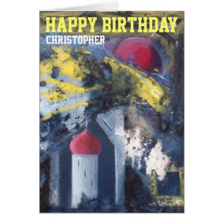 Personalisierte alles- Gute zum Geburtstagmoderne Karte