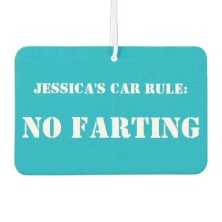 Personalisierte Auto-Regel: Kein Farting Autolufterfrischer