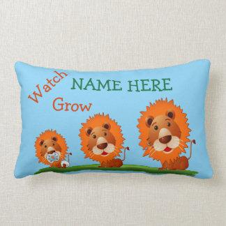 Personalisierte Baby-Kissen mit Namen und Lendenkissen