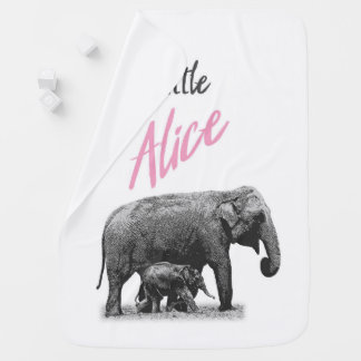 """Personalisierte Baby-Mädchen-Decke """"kleine Alice """" Babydecke"""