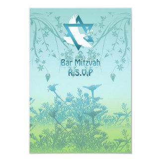 Personalisierte Bar Mitzvah Antwort laden ein 8,9 X 12,7 Cm Einladungskarte
