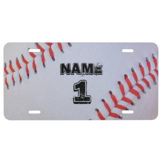 Personalisierte Baseballlizenzplatte US Nummernschild
