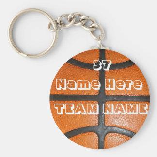 Personalisierte Basketball-Geschenke für Jungen u. Standard Runder Schlüsselanhänger