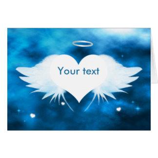 Personalisierte Beileids-Karte - Engel des Herzens Karte