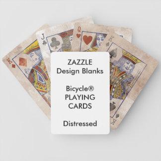Personalisierte Bicycle® BEUNRUHIGTE Spielkarten