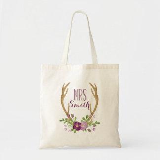 Personalisierte Boho Frau Tote Bag Tragetasche