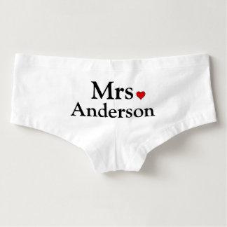 Personalisierte Braut-Unterwäsche Damen-Hotpants