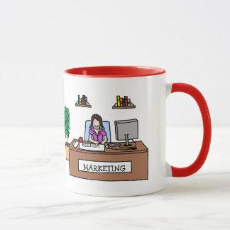 Personalisierte Cartoon-Tasse des Marketings-Gurus Tasse