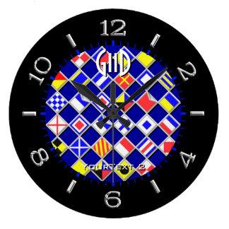 Personalisierte Checkered Seeflaggen-Skala auf a Uhr