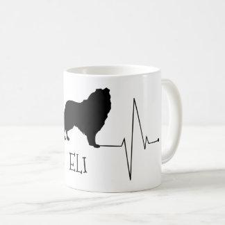 Personalisierte Collie-Liebe mein Hundeherz-Schlag Kaffeetasse