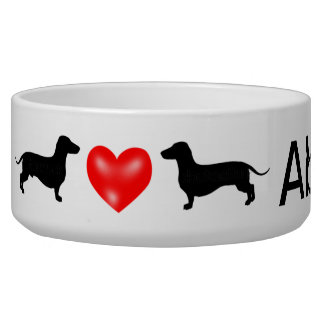 Personalisierte Dackel-Hundeschüssel Napf