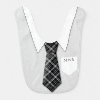 Personalisierte der Anzugs-Krawatten-lustiges Lätzchen