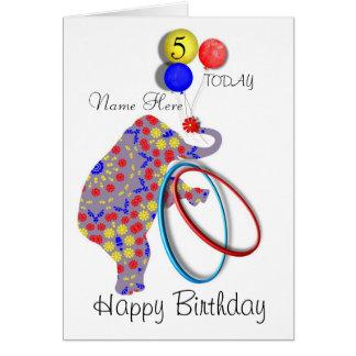 Personalisierte der Geburtstags-Karte des Grußkarte