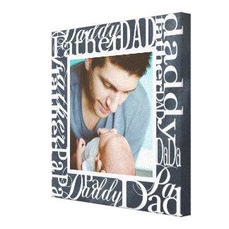 Personalisierte der Vatertags-Wort-Collagen-Tafel Galerie Gefaltete Leinwand