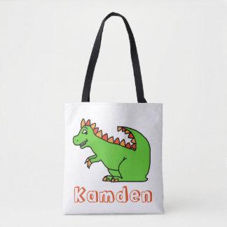 Personalisierte Dino-Taschentasche Tasche