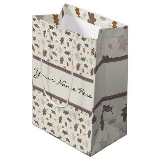 Personalisierte Duschen des bunten Eichen-Blätter Mittlere Geschenktüte
