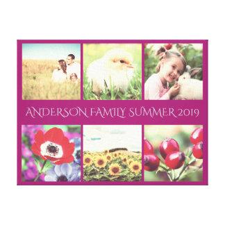Personalisierte Familien-Erinnerungen Leinwanddruck