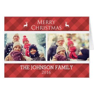 Personalisierte Familien-WeihnachtsFoto-Karte Grußkarte