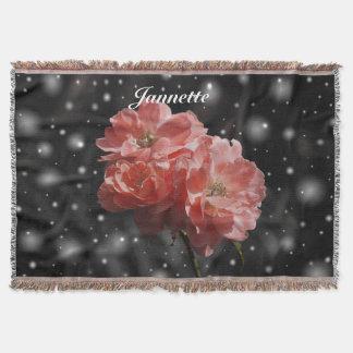 Personalisierte Fantasie-Rose Decke