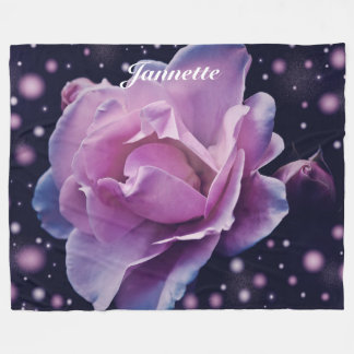 Personalisierte Fantasie-Rose Fleecedecke