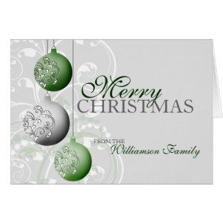 Personalisierte festliche Weihnachtskarte Karte