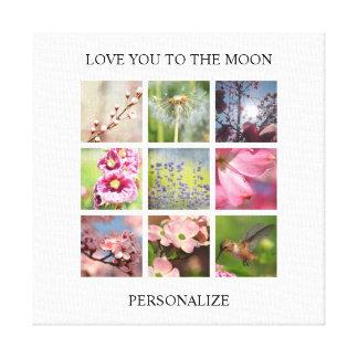 Personalisierte Foto-Collage mit Ihrem Text Leinwanddruck