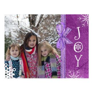 Personalisierte Foto-Familien-Weihnachtsfreude Postkarte