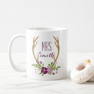 Personalisierte Frau Boho Mug Kaffeetasse