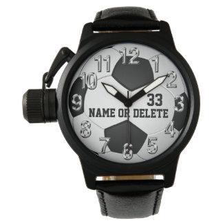 Personalisierte Fußball-Uhren für Männer, Frauen, Uhr