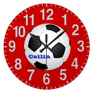 Personalisierte Fußball-Uhren mit Anweisungen Wanduhren