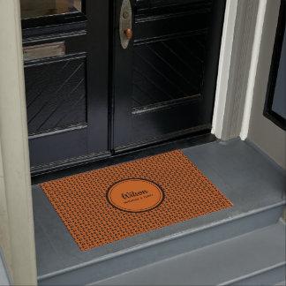 Personalisierte gebrannte Orange und schwarzer Türmatte