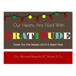 Personalisierte Geschäfts-Feiertags-Dankbarkeit Postkarte