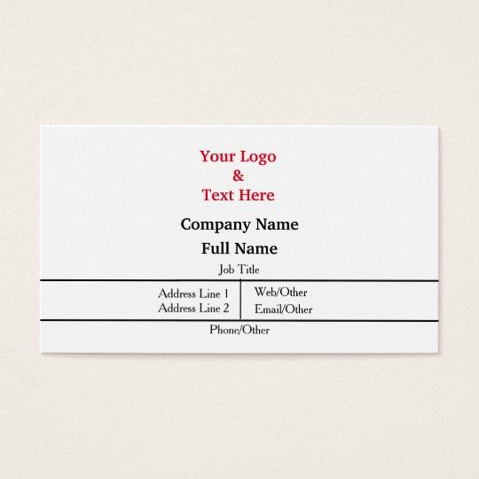 Personalisierte Gewohnheit Ihre Selbst Visitenkarte