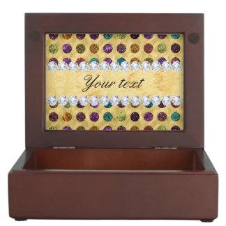 Personalisierte Glitter-Polka-Punkt-Diamanten Erinnerungsdose